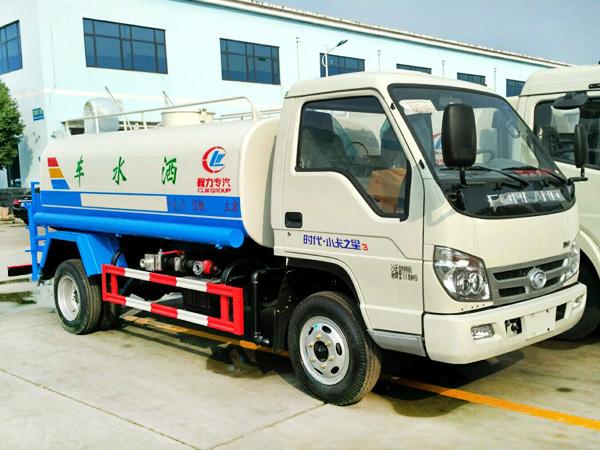 福田小卡4方洒水车 程力威牌CLW5041GPSB5型绿化喷洒车