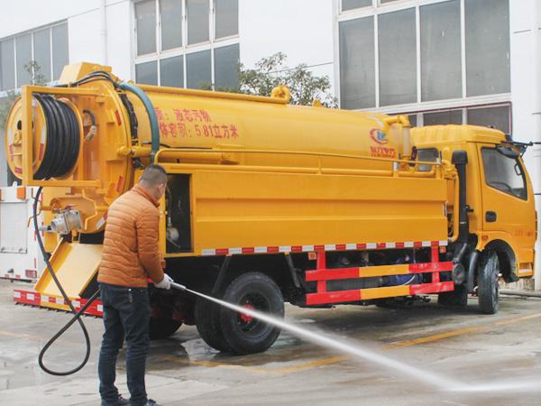 8吨清洗疏通吸污车