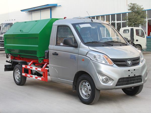 福田3方垃圾转运车 车厢可卸式垃圾车